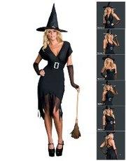 Ведьмочка,  костюм на Хеллоуин,  платье трансформер