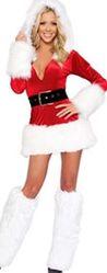 Новогоднее платье с мехом для Снегурочки